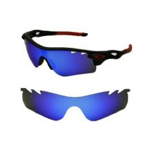 NEW POLARIZED VENTED BLUE CUSTOM LENS FOR OAKLEY RADARLOCK SUNGLASSES